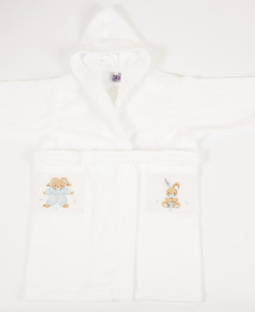 blue rabbit bathrobe