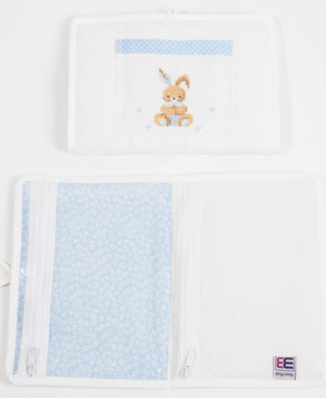 blue rabbit small envelope