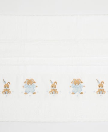blue rabbit body towel